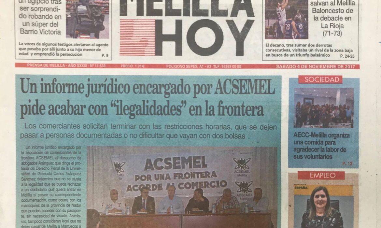 Aránguez Abogados elabora un informe para ACSEMEL