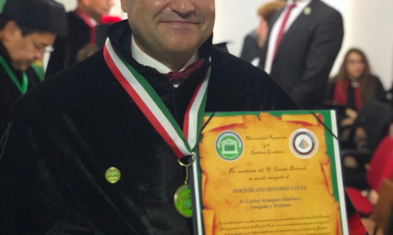 Carlos Aránguez nombrado Doctor Honoris Causa por la Universidad Togatorum de México