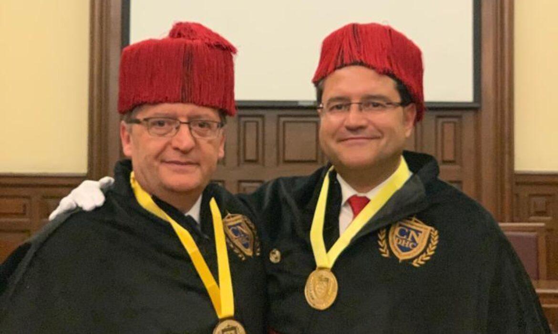 Carlos Aránguez y Miguel Olmedo nombrados Doctor Honoris Causa por el Claustro de Doctores de México