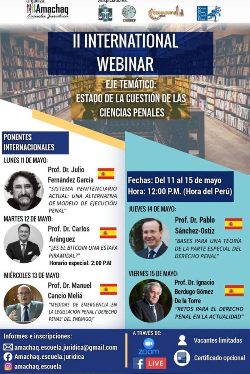 II International Webinar: Estado de la cuestión de las ciencias penales