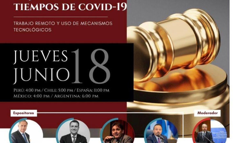 """""""La justicia en tiempos de COVID-19"""""""