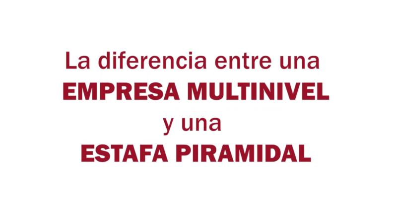 Estafa Arbistar: Diferencia entre Estafa Piramidal y Empresa Multinivel