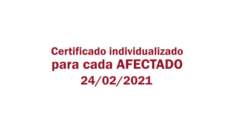 Estafa Arbistar: Certificado individualizado para cada Afectado