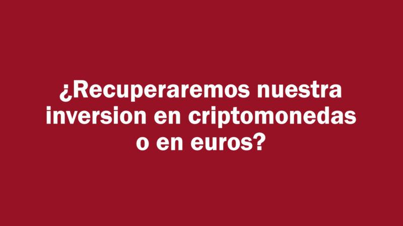 Estafa Nimbus: ¿Se recuperará lo invertido en Bitcoins o en Euros?